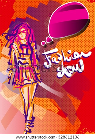 Fashion Show Poster - stock vector