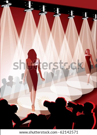 Fashion show vector - stock vector