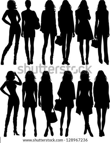 fashion silhouette - stock vector