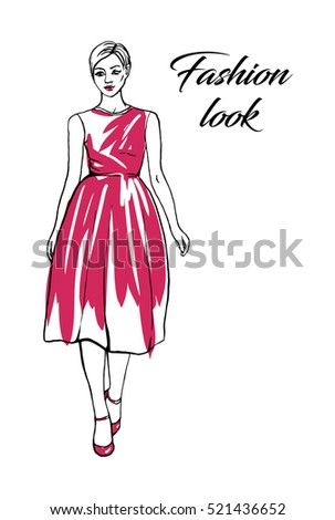 Fashion sketchy vector illustration