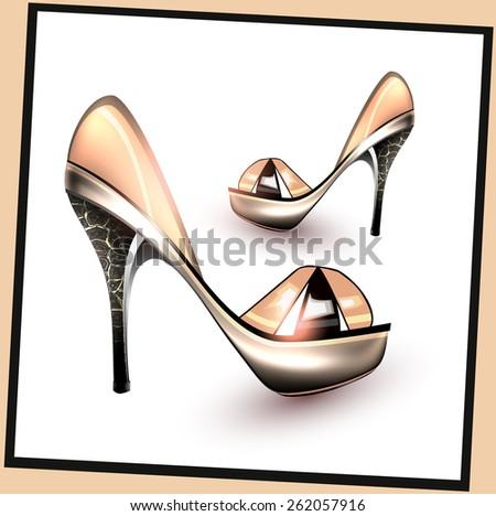 Fashion stiletto heels - stock vector