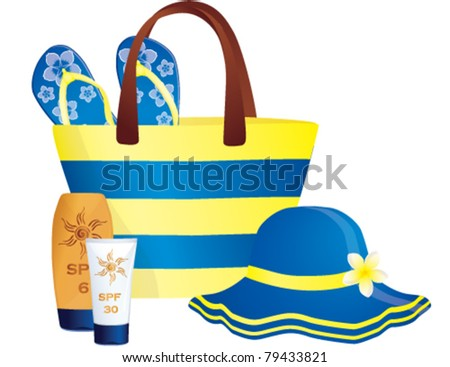 Fashion summer accessories. Vector, illustration - stock vector