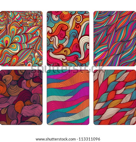 Fashion tablet skins. Modern abstract backgrounds with wave lines to customize your original device, design for card, label, tag, sticker. - stock vector