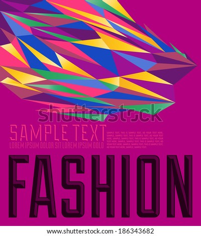 Fashion - Vector geometric colorful background - stock vector