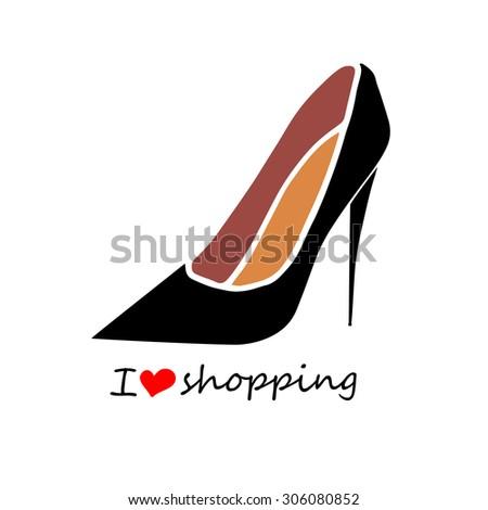 fashion vector trendy shoes heel high fashionable - stock vector