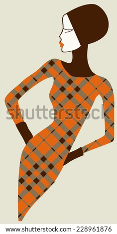 Fashion woman - stock vector