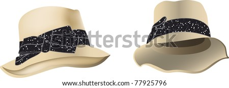 fashion woman hat - stock vector
