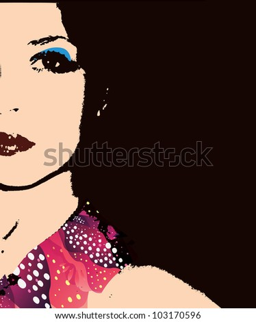 Fashion Woman Portrait - stock vector