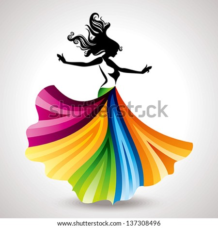 fashion women illustration - stock vector