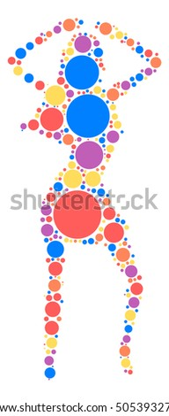 Fashion Women shape vector design by color point