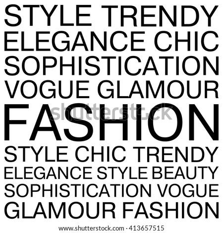 Fashion Words Concept Cards Posters Tshirts Stock Vector 413657515 Shutterstock