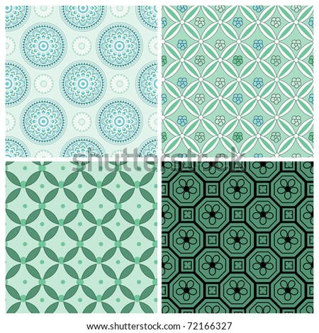 Fashionable modern wallpaper or textile - stock vector
