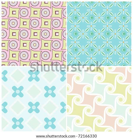 Fashionable modern wallpaper or textile - stock vector