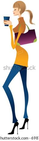fashionable woman - stock vector