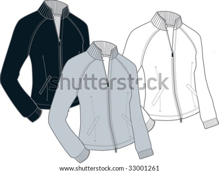 Fashionable women's vector top sketches with draping and movement shadowing details. - stock vector