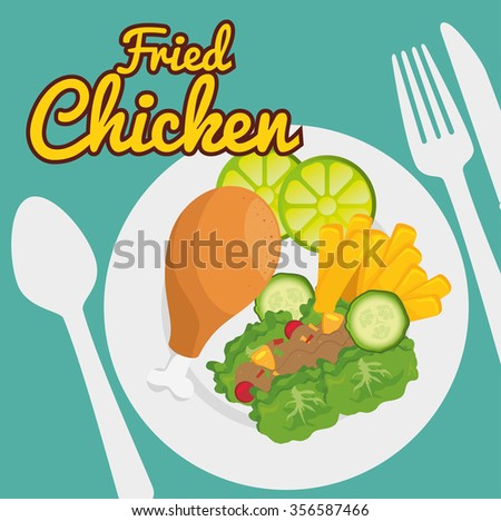 Fast and delicious food graphic design, vector illustration  - stock vector