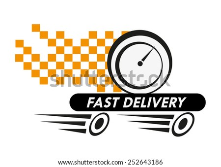 Fast Delivery Service Logo for Food Orders - stock vector