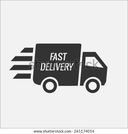 Fast delivery truck - stock vector
