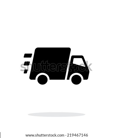 Fast delivery Truck icon on white background. Vector illustration. - stock vector