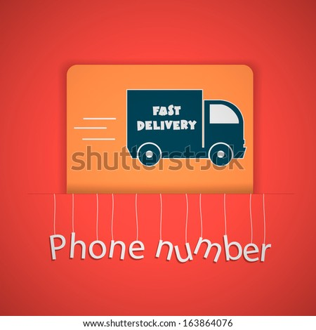 Fast delivery truck icons. - stock vector