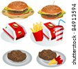 Fast food collection 1 - stock vector