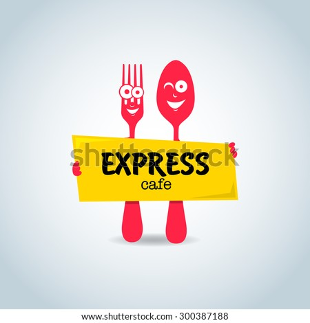fast food express cafe logo templateのベクター画像素材 300387188