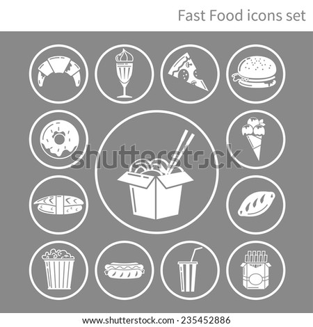 fast food frame for web, menu, cafe and restaurant. vector - stock vector