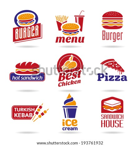 Fast food icons - 2 - stock vector