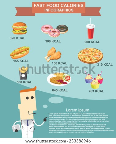 Fast food infographics vector format eps10 - stock vector