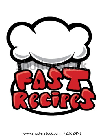 Fast Recipes - stock vector