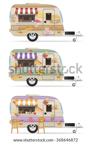 fast trailer vector illustration isolated on white background - stock vector