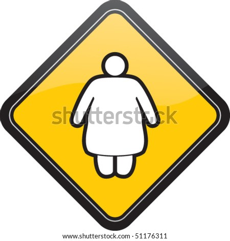 Fat female - stock vector