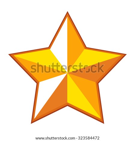 fat gold star elegant vector stock photo photo vector rh shutterstock com Gold Star Clip Art Tiny Star No Background EPS