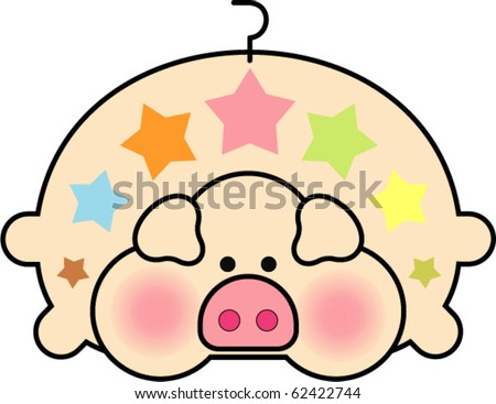 Fat Pig - stock vector
