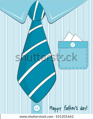 Father day greeting card - stock vector