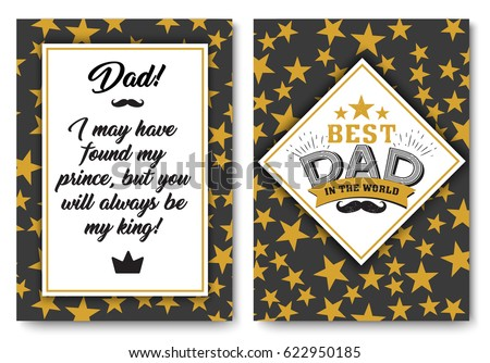 Father Happy Birthday Card Set Best Stock Vector 622950185