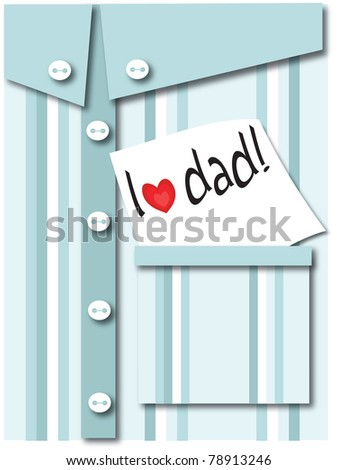 Father's day greeting card ,vector - stock vector