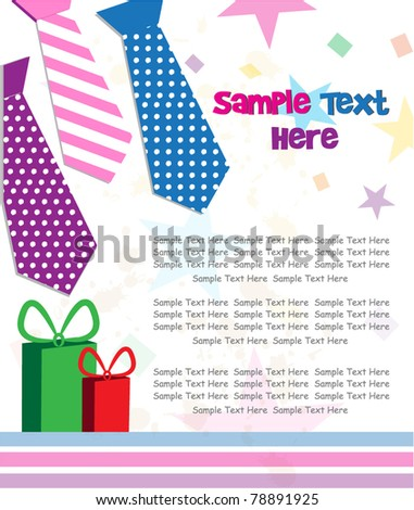 father's day illustration - stock vector