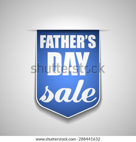 Father's Day sale - stock vector