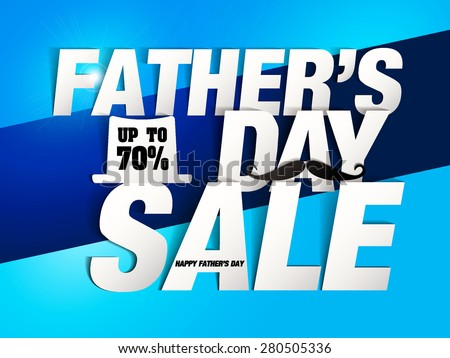 "Father""s day Sale design (Paper Folding Design) for promotion, poster, flier, blog, article, social media, marketing, flyer, web page, signage  - stock vector"