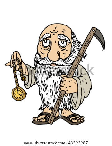 Father Time - Vector Illustration