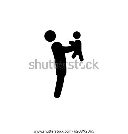 Father Son Icon Illustration Isolated Vector Stock Vector 620992865
