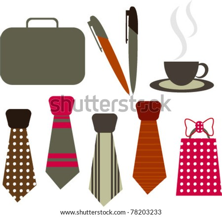fathers day designing elements - stock vector