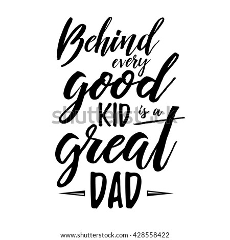 Fathers Day inspirational poster. Handwritten modern brush lettering card for dad. Photo overlay for fathers day. Happy Retro typographic vector design element. Calligraphic quote - stock vector