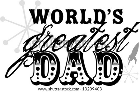 fathers day worlds greatest dad vector