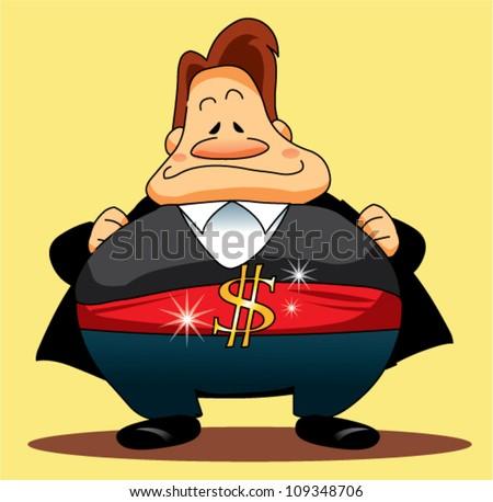 fatty richman - stock vector
