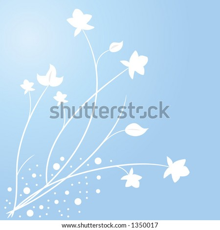 fauna and leaves on blue vector