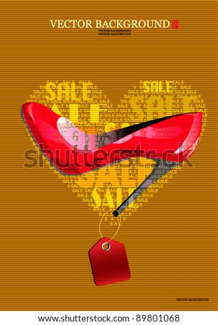 Favorite red shoes - stock vector