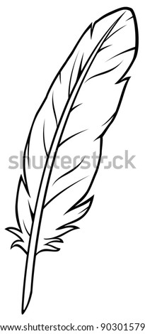 feather - stock vector