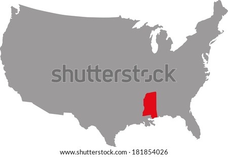 federal state of USA Mississippi